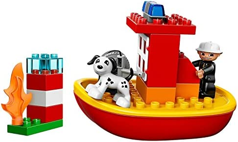 Amazoncom Lego Duplo 10591 Fire Boat Toys Games