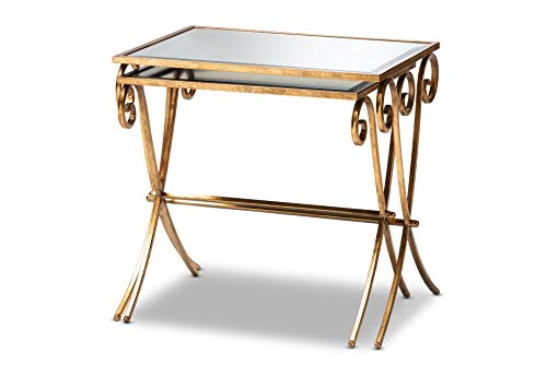 - Baxton Studio 151-9073-AMZ Coffee Tables, One Size, Antique Gold