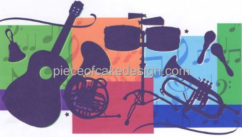 Rock Band ~ Edible Cake Image Topper -