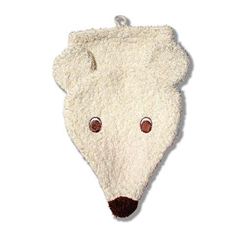 Bath Bear Wash Mitt (Furnis Wash Mitt Polar Bear - Oko-Tex Certified - Small / Child Size)