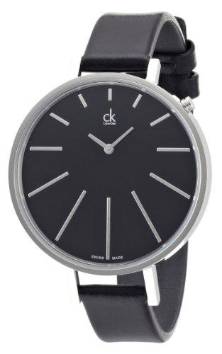 Calvin Klein Damen-Armbanduhr equal Analog Quarz Leder K3E231C1