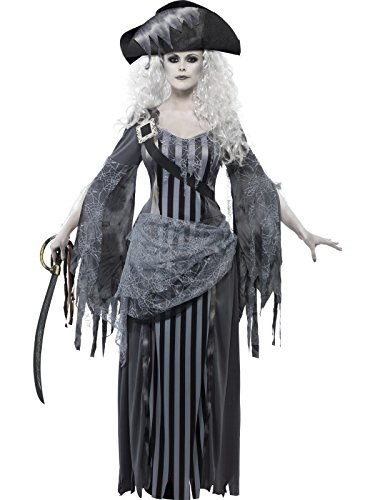 Smiffy's Women's Ghost Ship Princess Costume, Dress and Hat, Ghost Ship, Halloween, Size 14-16, 22970