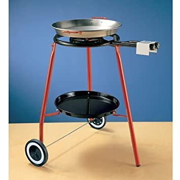 Burner with rolling stand and 42cm Paella Pan by Garcima: Amazon.es ...