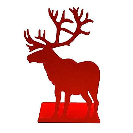 TOOGOO 2pcs/Set Book Holder for Reading elk bookends Restoring Ancient Ways Desktop Receive Arrange bookends for Christmas Gifts red