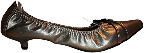 3-W-Hohenlimburg Auffällige Stiletto Pumps High Heels Spitz in Exklusiver Optik, Schwarz, Rot, Braun, Lila, Grau oder Silber, Damenschuhe, PHH105, Schuh für Damen, Bequem zu Tragen, Spitz und Modern. Silber