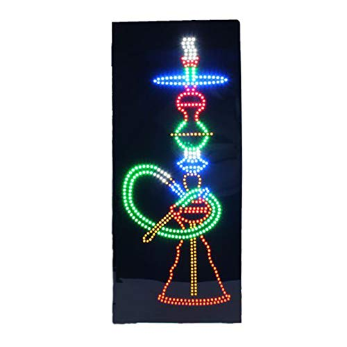 LED Hookah Lounge Cafe Open Light Sign Super Bright Electric Advertising Display Board for Hookah Bar Cigar Tobacco Vapor Pipes Smoking Cafe Business Shop Store Window 32 x 13 inches (E Vapor Cigar)