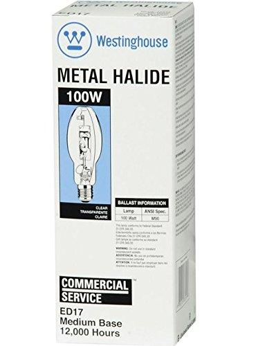 Westinghouse 3701800 Ed17 Hid Metal Halide Light Bulb, 100 Watts, 8500 Lumens (Pack of 6)