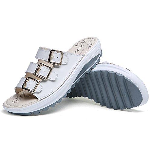 VWU - Sandalias de vestir para mujer Weiß