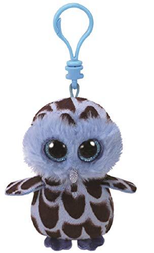 Ty Beanie Boos YAGO - Blue Owl Clip Key Chain Plush -