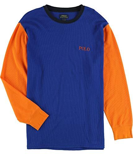 Ralph Lauren Mens Waffle-Knit Thermal Pajama Shirt, Multicoloured, XX-Large