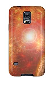 Awesome Case Cover/galaxy S5 Defender Case Cover(sci Fi Planets People Sci Fi)