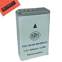 EN-EL24 Battery for Nikon 1 J5, DL18-50, DL24-85 Digital Camera
