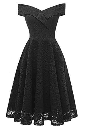 de937451ef MILANO BRIDE Cocktail Dress for Women Vintage Lace Off-The-Shoulder ...