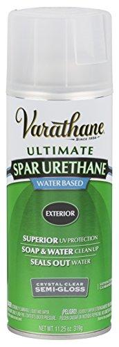 Rust-Oleum Varathane 250181 Outdoor Spar Urethane Classic Clear Water Based Spray, Semi-Gloss Finish