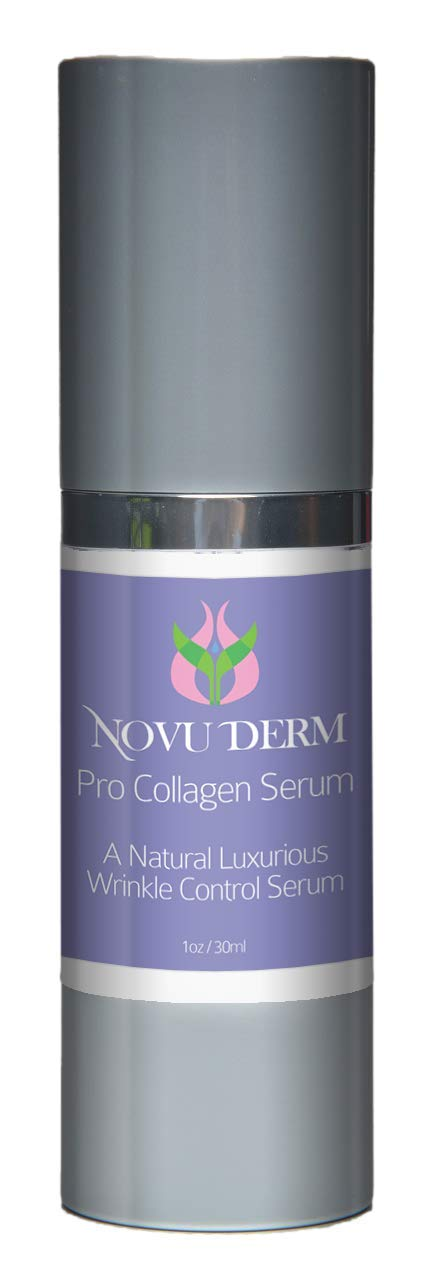 Novu Derm- Pro Collagen Serum- Significally Increase Collagen Production Safely and Efficiently- Natural Luxurious Formula To Hydrate and Diminish Wrinkles