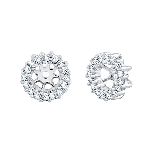 Diamond Earring Jackets in 10K White Gold (1/4 cttw, J-K, I2-I3)