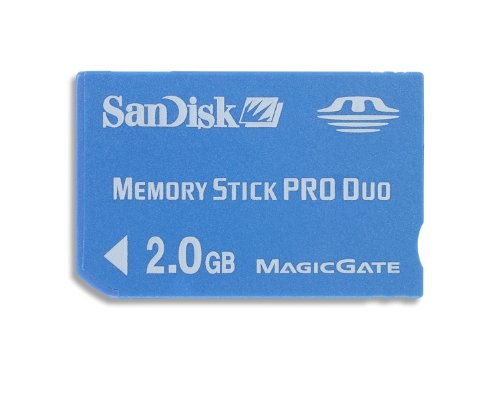 SanDisk Flash 2 GB Memory Stick PRO Duo Flash Memory Card SDMSPD-002G, Black ()