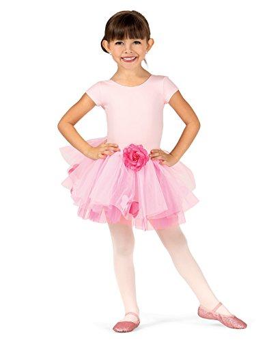 Ballerina Pink Rose Petal - Child Rose Tutu Skirt With Petals,SK596PNKM,Pink,Medium