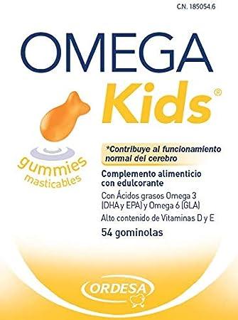 Ordesa Omegakids Gummies Masticables- 54 Unidades - El Omega-3 para tus hijos, 4 gominolas al día: Amazon.es: Salud y cuidado personal