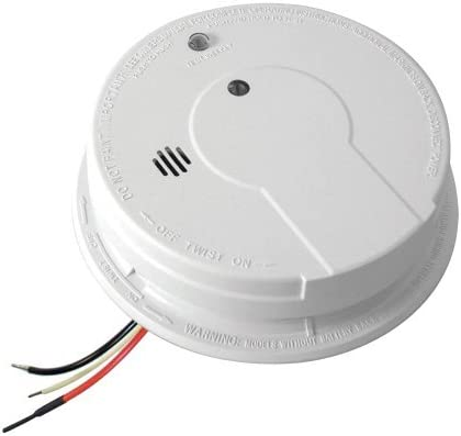 Kidde i12040 120V AC Wire-In Smoke Alarm with Battery Backup and Smart Hush by Kidde