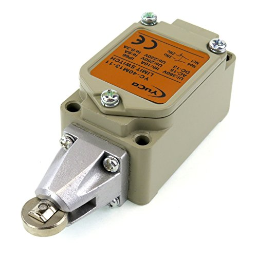 YC-40M13-11 YuCo REPLACEMENT LIMIT SWITCH FITS OMRON WL-D2 LIMIT SWITCH 40MM ROLLER PLUNGER 1NO 1NC CONTACTS IEC 947 CERTIFICATED 380V MAXIMUM ,CONTACT 10AMP .