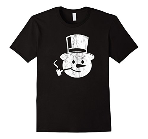 Mens Frosty Snowman T-Shirt Corn Cob Pipe and Top Hat 3XL...