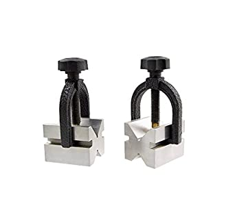 3402-0945 HHIP 3 X 2.2 X 2.2 INCH Stainless V-Block /& CLAMP Set