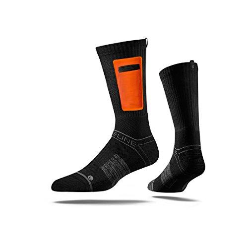 Strideline Premium Utility Hunting Knife Socks, One Size, Black with Orange Pocket