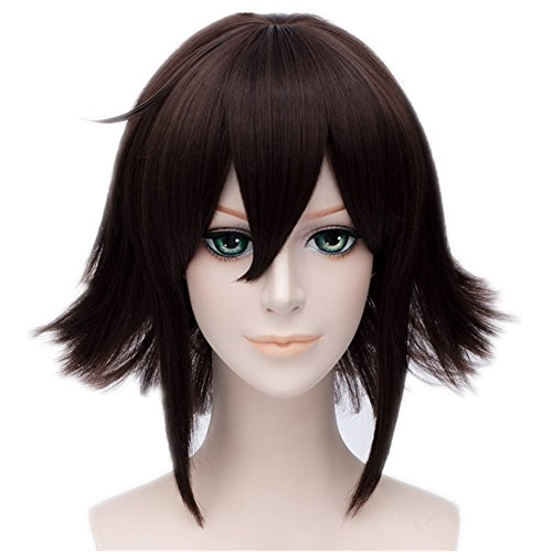 MSHUI DuRaRaRa!! Orihara Kururi Short Cosplay Wig Anime Dark Brown Hair 12