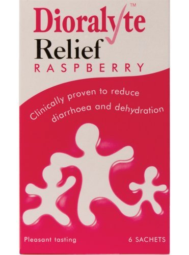 - Dioralyte Relief Oral Rehydration Therapy - Raspberry Flavour - 6 Sachets by Dioralyte