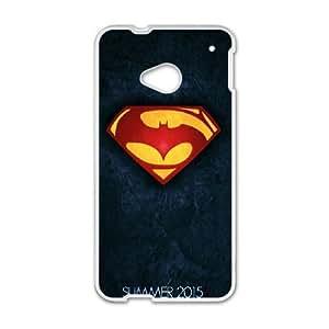 HTC One M7 Cell Phone Case White Batman 001 VC948489
