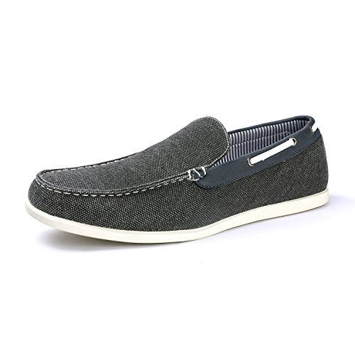Bruno Marc Men's Province_01 Grey Fabric Loafers Slip On Shoes Size 10.5 M US
