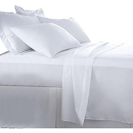 Burrito Blanco Juego de Sábanas Blanco de Hostelería para Cama de Matrimonio de 135 cm x