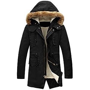 LILBETTER Men's Hooded Faux Fur Lined Warm Coats Outwear Winter Jackets