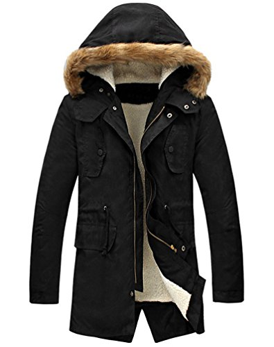 LILBETTER-Mens-Hooded-Faux-Fur-Lined-Warm-Coats-Outwear-Winter-Jackets
