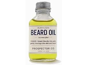 Prospector Co. Beard Oil 1oz Mini Flask by Burroughs