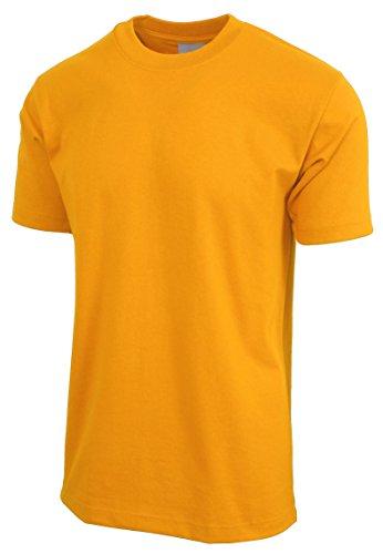 Hat and Beyond Mens Super Max T Shirt Heavyweight Solid Short Sleeve Tee S-5XL (1ks06_Gold/3X Tall) ()
