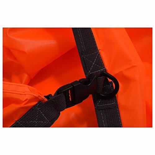 Trockentasche - BLUE FIELD im Freien wasserdichte Trockentasche fuer Kanu Kajak Floesserei Camping-koennen komprimiert werden, halten Lebensmittel, Kleidung, Geldbeutel (70L, orange)