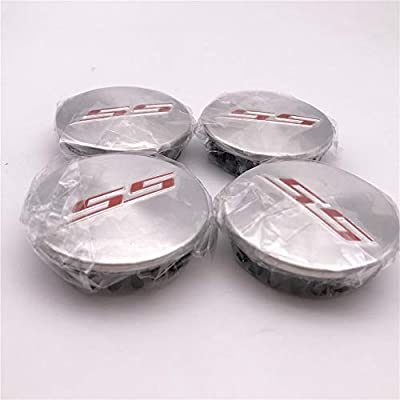 FT&C 4 PCS New 67mm 2 5/8 inch Brushed Silver Red SS Car ABS Custom Hub Wheel Center Caps Cover 19351757: Automotive