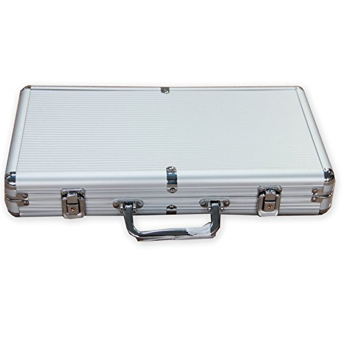 IDS 300 Ct Aluminum Poker Chip Case Holder (Chip Case Aluminum 300)