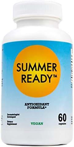 Summer Ready Supplement - Polypodium Leucotomos 480mg & Nicotinamide 500mg (Vitamin B3) - Patent Pending Antioxidant Rich Formula