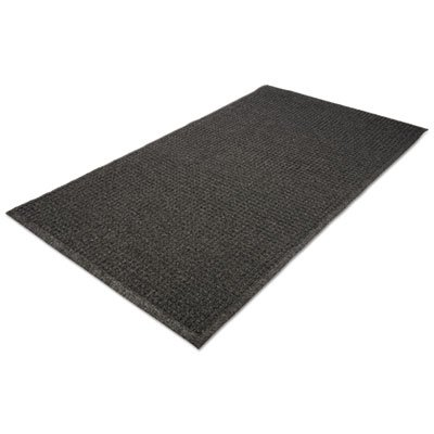 EcoGuard Indoor/Outdoor Wiper Mat, Rubber, 24 x 36, Charcoal, Sold as 1 Each