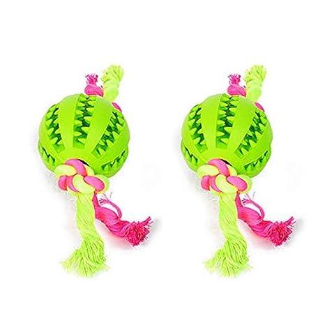 Pelotas de goma, cuerda, juguete para perros, pelota de goma, 2 ...