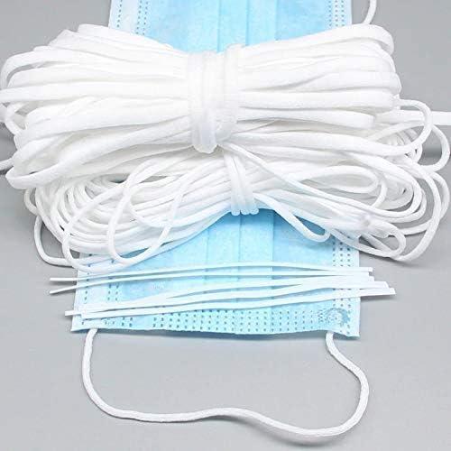 Bianco 3 mm Greens 50m Cordoncino Elastico Cavo Elastico Bianco,Cordoncino Elastico per Maschere Fai da Te