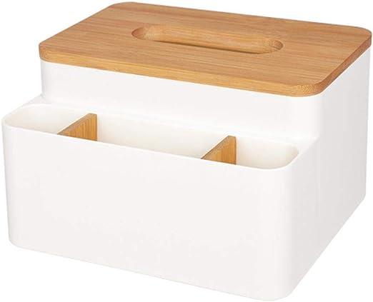 Caja de pañuelos Rectangular de plástico Organizador de Madera ...