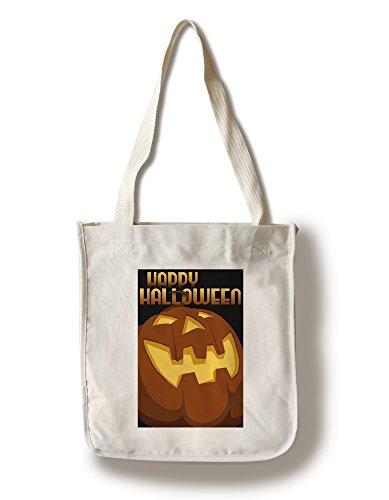 Happy Halloween - Halloween Jack O'Lantern - Vector (100% Cotton Tote Bag - Reusable)