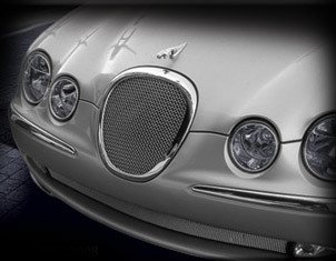Mesh Grille Lower (Lower Mesh Grille Grill for Jaguar S-Type 1999 2000 2001 2002 2003 2004 Bright Stainless)