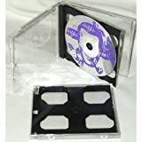 (25) Double Slimline CD Jewel Boxes with a Dark Grey / Black Pivot Tray #CD2R10DG