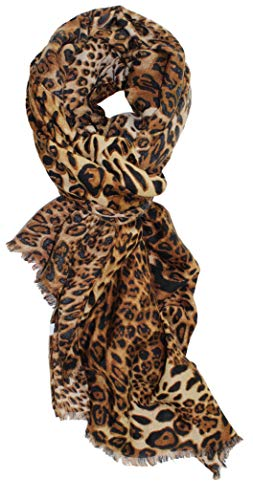 Ted and Jack - Oversized Classic Leopard Print Fashion Scarf (Black and Brown)