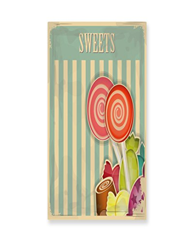 Lunarable Vintage Wall Art, Retro Old Candy Store Chocolates